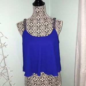 NEVER BEEN WORN Charlotte Russe Flowy Blue Top